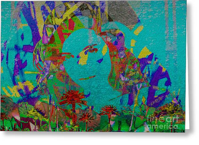 Response Mixed Media Greeting Cards - Stenographic Lover Greeting Card by J Burns