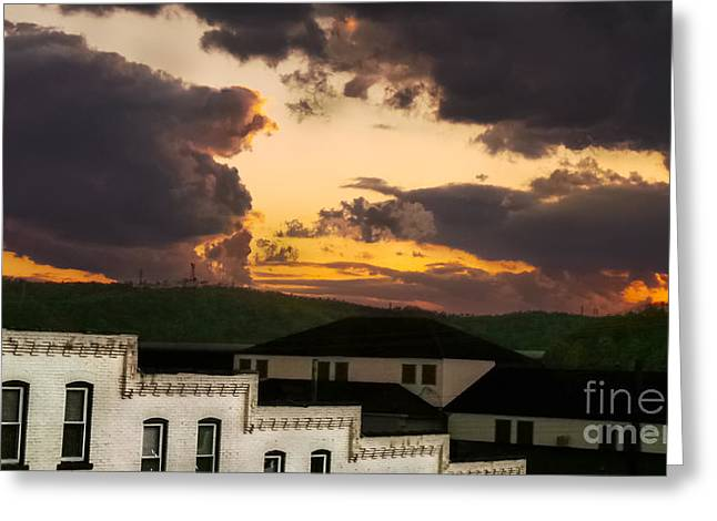 Storm Prints Digital Art Greeting Cards - Beautiful Clouds Greeting Card by Charlie Cliques