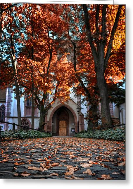 Wall City Prints Greeting Cards - Autumn in Basel Greeting Card by Carol Japp