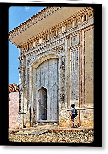 Grate Greeting Cards - Step into History Greeting Card by Dawn Currie