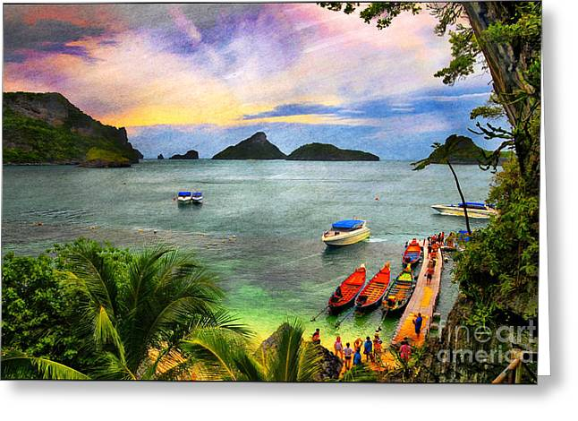 Snorkel Mixed Media Greeting Cards - Step into Paradise Greeting Card by Daniela White