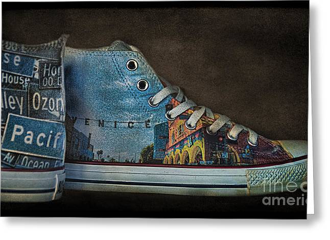 Shoe String Greeting Cards - Step Into Venice Greeting Card by Norma Warden