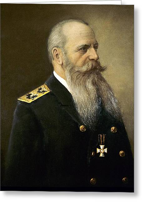 Imperia Greeting Cards - Stepan Makarov, Russian navy commander Greeting Card by Science Photo Library
