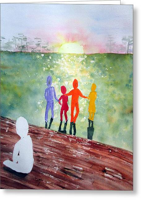 Race Discrimination Greeting Cards - Stepchild in the Promised Land Greeting Card by Joann Perry