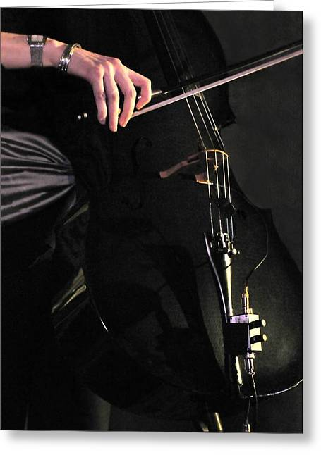 Playing Musical Instruments Greeting Cards - Stephanies Cello Greeting Card by Diana Angstadt