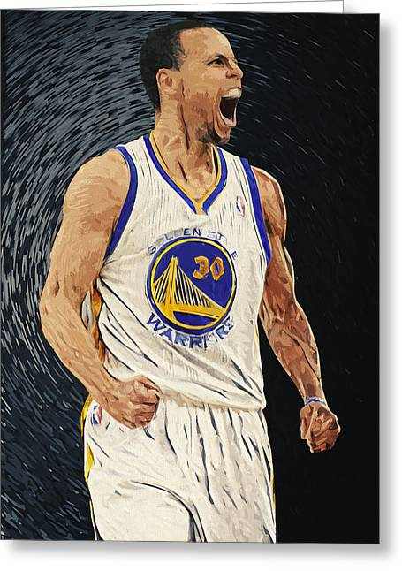 Taylan Soyturk Greeting Cards - Stephen Curry Greeting Card by Taylan Soyturk