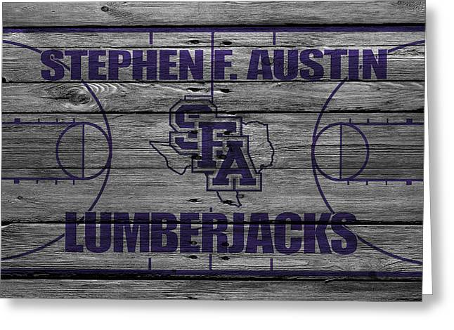 Stephen F Austin Lumberjacks Greeting Card by Joe Hamilton