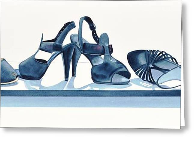 Straps Greeting Cards - Steppin Out Greeting Card by Jane Loveall