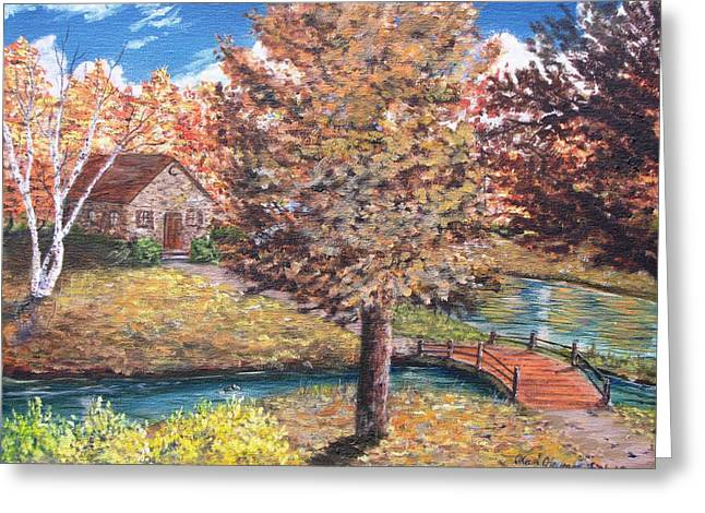 Kevin F Heuman Greeting Cards - Stepping Into Autumn Greeting Card by Kevin F Heuman