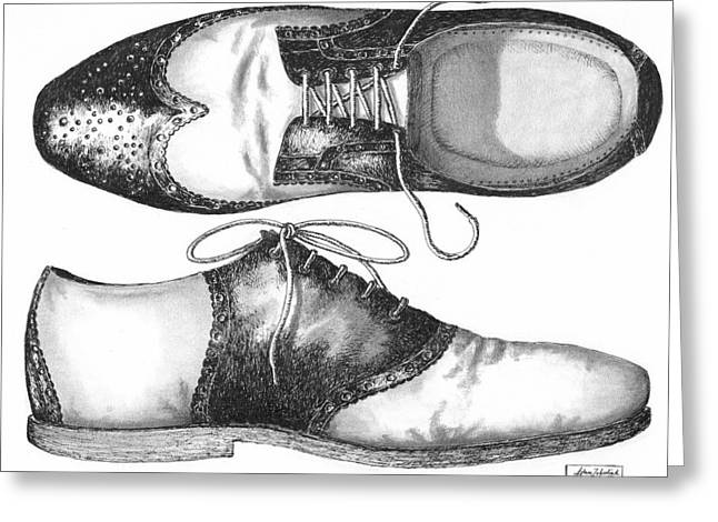 White Shoes Greeting Cards - Stepping Out Greeting Card by Adam Zebediah Joseph
