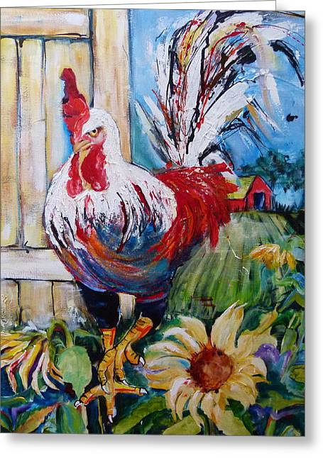 Suzanne Willis Greeting Cards - Stepping Out Greeting Card by Suzanne Willis