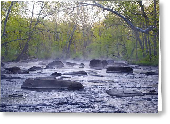 Stepping Stones Greeting Card by Bill Cannon