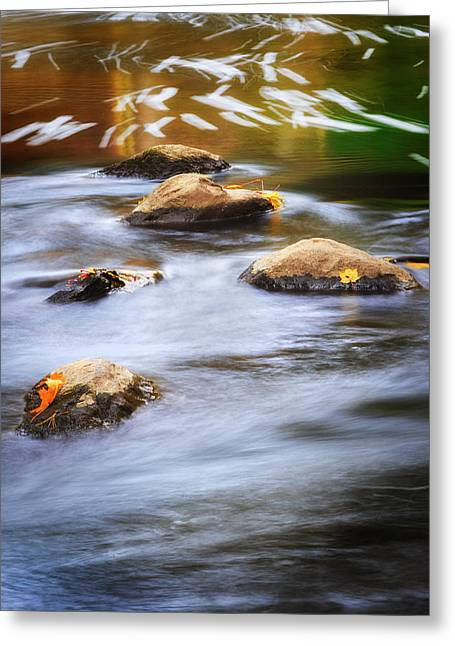 Stepping Stones Greeting Cards - Stepping Stones Greeting Card by Bill  Wakeley