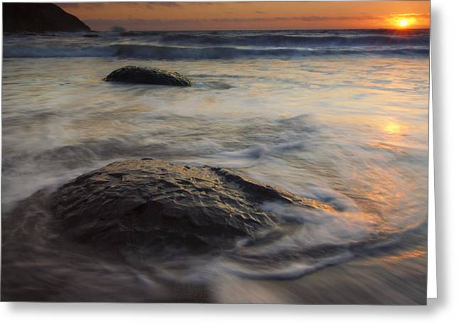 Stepping Stones Greeting Card by Mike  Dawson
