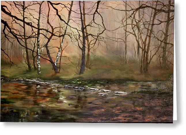 Nightjars Greeting Cards - Stepping Stones on Cannock Chase Greeting Card by Jean Walker