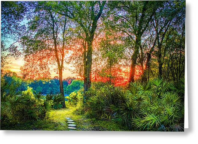 Stepping Stones to the Light Greeting Card by Marvin Spates