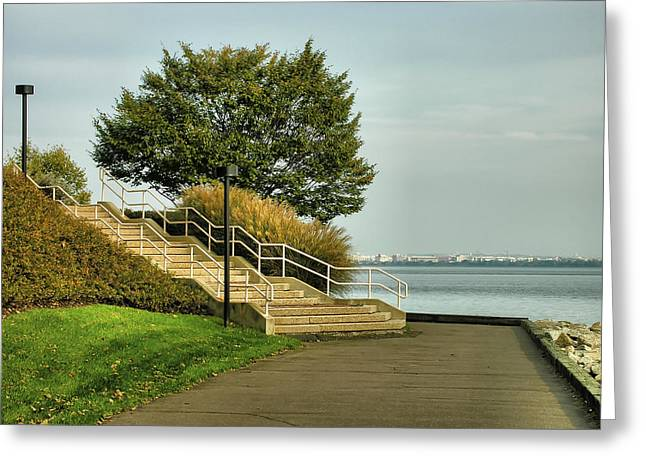 Steps And River Walk I Greeting Card by Steven Ainsworth