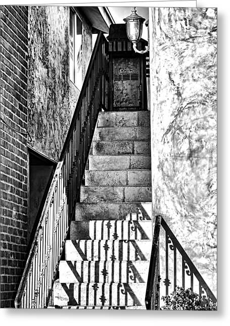 Stair-rail Greeting Cards - Steps Greeting Card by Camille Lopez