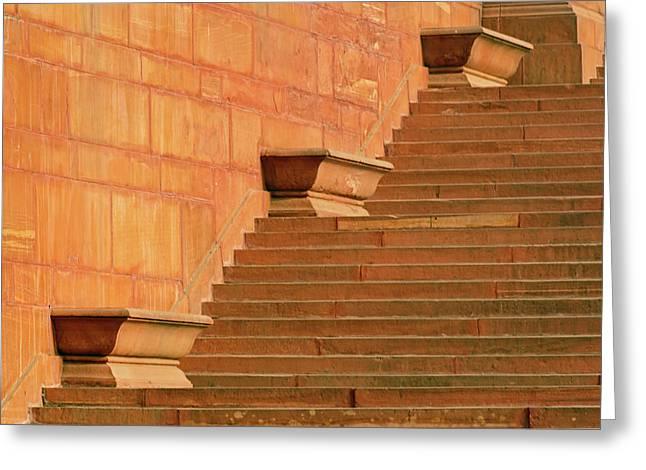 Steps, Central Secretariat (kendriya Greeting Card by Adam Jones