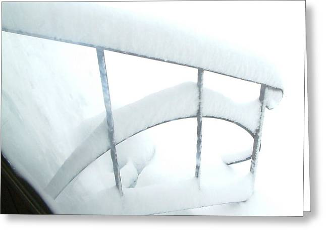 Millbury Greeting Cards - Steps Covered in Snow Greeting Card by Mike McCool