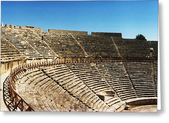 Steps Of The Theatre In The Ruins Greeting Card by Panoramic Images