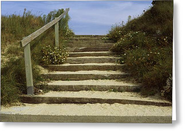 Steps Onto A Beach, Pontusval Greeting Card by Panoramic Images