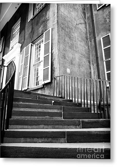 College Buildings Images Greeting Cards - Steps to Learning Greeting Card by John Rizzuto