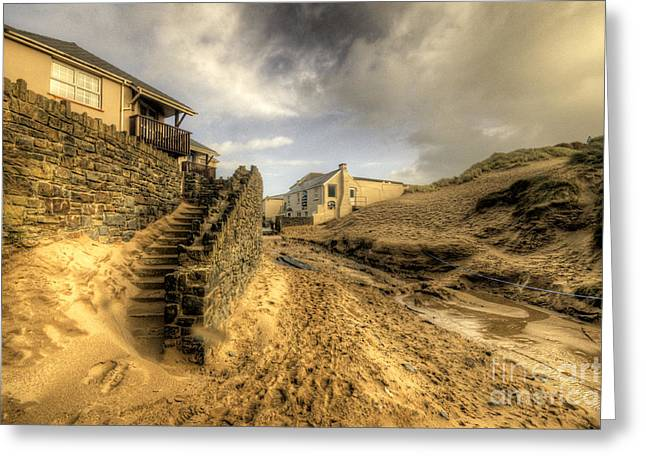 Croyde Greeting Cards - Steps to the beach  Greeting Card by Rob Hawkins