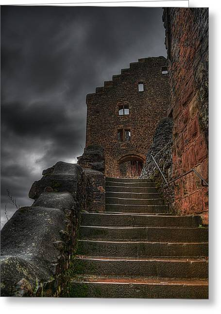 Long Ago Greeting Cards - Steps to the Fortress Greeting Card by Mountain Dreams