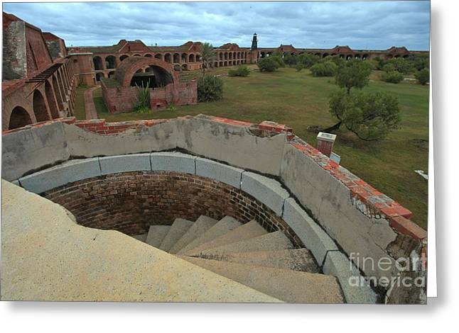 Dry Tortugas National Park Greeting Cards - Steps To The Past Greeting Card by Adam Jewell