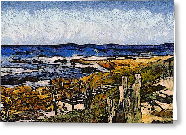 Cambria Digital Greeting Cards - Steps To The Sea Abstract Greeting Card by Barbara Snyder