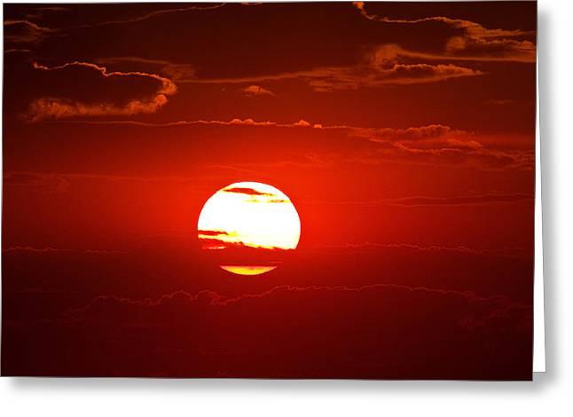 Steptoe Sunset Greeting Card by Mark Kiver