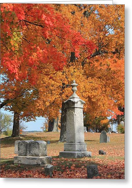 Central Ma Greeting Cards - Sterling MA Burial Ground Greeting Card by Michael Saunders