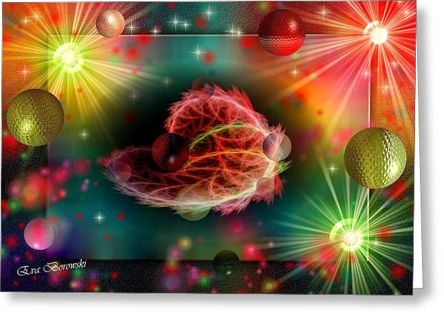 Fenster Digital Art Greeting Cards - Sternenweg in der Galaxie Greeting Card by Eva Borowski