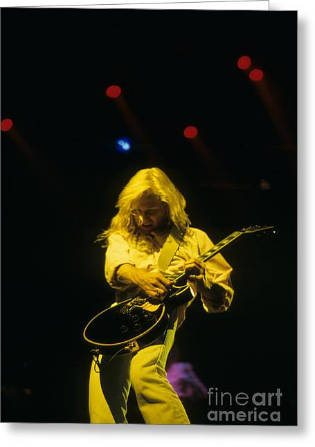 Def Leppard Greeting Cards - Steve Clark of Def Leppard Greeting Card by Rich Fuscia