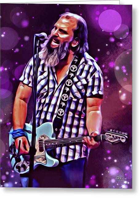 Near Nashville Greeting Cards - Steve Earle Portrait Greeting Card by Scott Wallace