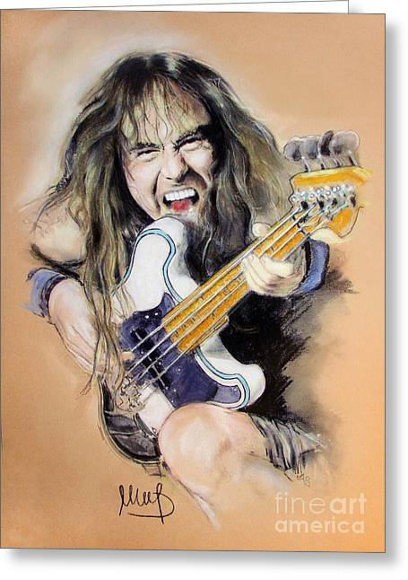 Iron Maiden Greeting Cards - Steve Harris Greeting Card by Melanie D