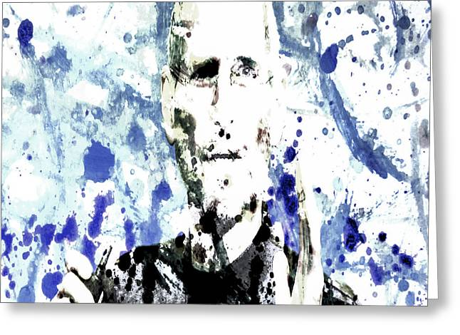 Xerox Digital Art Greeting Cards - Steve Jobs Greeting Card by Brian Reaves