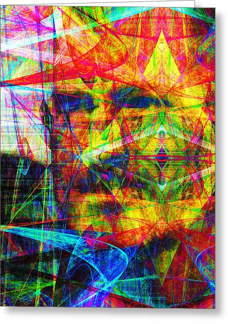 Death Of Steve Jobs Greeting Cards - Steve Jobs Ghost In The Machine 20130618 Long Greeting Card by Wingsdomain Art and Photography