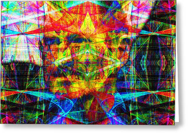 Steve Jobs Ghost In The Machine 20130618 Square Greeting Card by Wingsdomain Art and Photography
