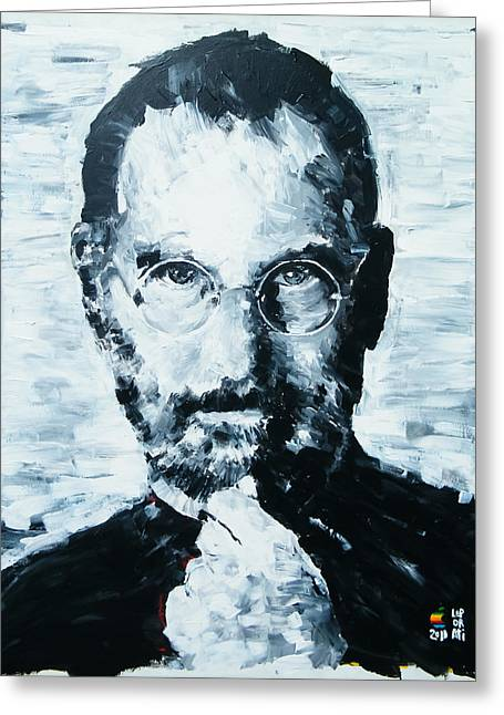 Future Leader Greeting Cards - Steve Jobs Greeting Card by Michael Leporati