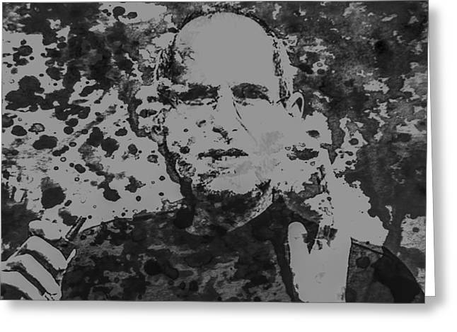 Xerox Digital Art Greeting Cards - Steve Jobs Paint Splatter 3b Greeting Card by Brian Reaves