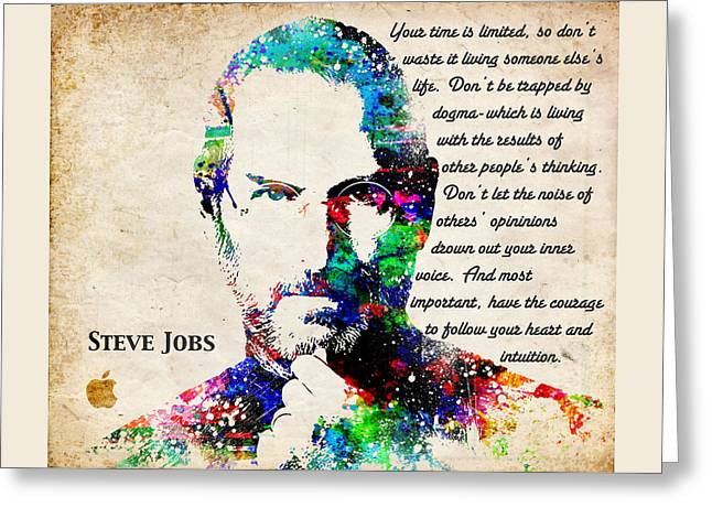 Wozniak Greeting Cards - Steve Jobs Portrait Greeting Card by Patricia Lintner