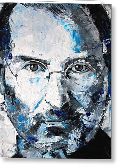 Computing Greeting Cards - Steve Jobs Greeting Card by Richard Day