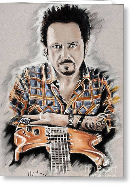 Toto Greeting Cards - Steve Lukather Greeting Card by Melanie D