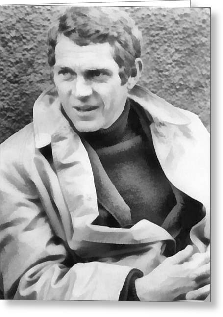 The Great Escape Greeting Cards - Steve Mcqueen King Of Cool Greeting Card by Dan Sproul