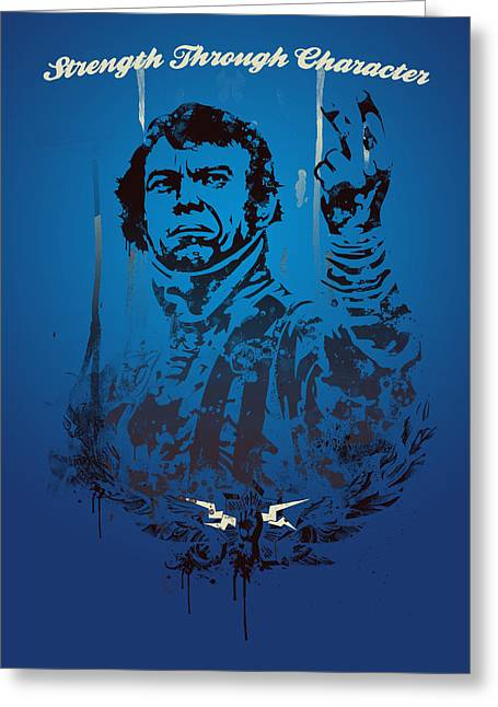Historical People Greeting Cards - Steve McQueen Greeting Card by Pop Culture Prophet