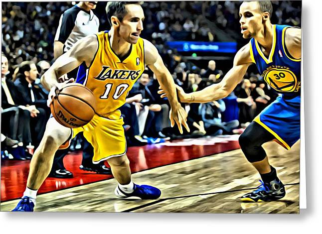 Steve Nash In Action Greeting Card by Florian Rodarte