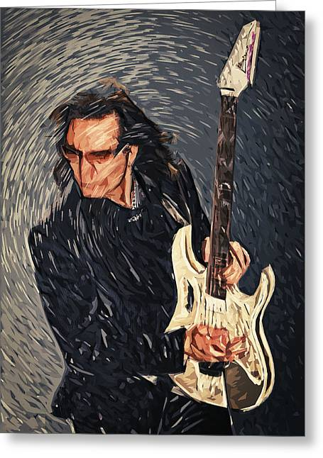 Frank Zappa Greeting Cards - Steve Vai Greeting Card by Taylan Soyturk