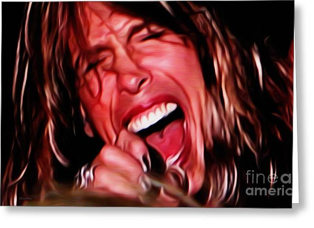 Steven Tyler Greeting Cards - Steven Greeting Card by Cheryl Young